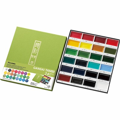 GANSAI TAMBI 24 colors set